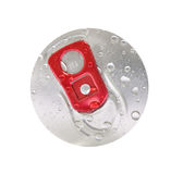 Beer can top view Royalty Free Stock Image