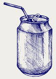 Beer can. Vector. Doodle style Stock Image