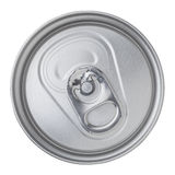 Beer canned top view Royalty Free Stock Photography