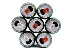 Beer cans Stock Photos