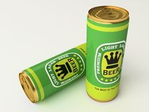 Beer cans. Two green beer cans before party Royalty Free Stock Photography