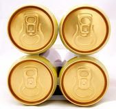 Beer Cans. Four Pack of Beer cans Royalty Free Stock Image