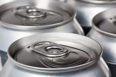 Beer cans closeup Royalty Free Stock Photos
