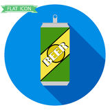 Beer cans. Icon. Flat design, illustration royalty free illustration