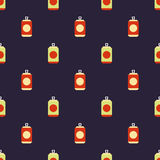 Beer cans pattern Stock Photo