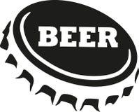 Beer cap with beer word. Vector vector illustration