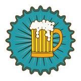Beer cap emblem icon image Royalty Free Stock Photo