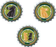 Beer cap with. Horse image Royalty Free Stock Photography
