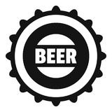 Beer cap icon, simple style. Beer cap icon. Simple illustration of beer cap vector icon for web Royalty Free Stock Photos