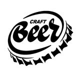 Beer cap. Lettering. Beer cap in the form of an inscription stock illustration