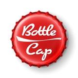 Beer Cap Vector. Red Bottle Cap. Mock Up Temaplate Royalty Free Stock Photo