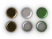 Beer caps Stock Image
