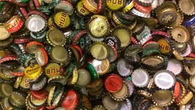 Beer caps royalty free stock images