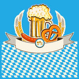 Beer card.Vector Bavaria background Stock Photography