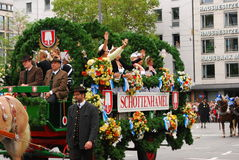 Beer carriage at the Oktoberfest Royalty Free Stock Photo
