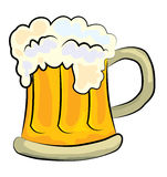 Beer cartoon. Vector illustration of  beer cartoon on white background Stock Image