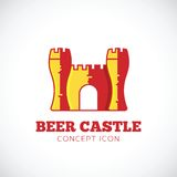 Beer Castle Vector Concept Symbol Icon Royalty Free Stock Photography