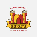 Beer Castle Vector Logo Template Royalty Free Stock Photos