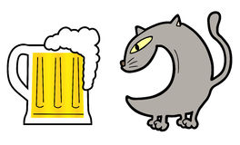 Beer cat Stock Photo