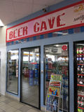 Beer Cave inside convenience store Royalty Free Stock Photography
