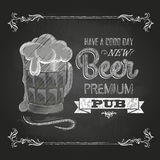 Beer. Chalk drawing Stock Photo