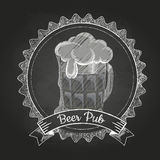Beer. Chalk drawing Stock Image