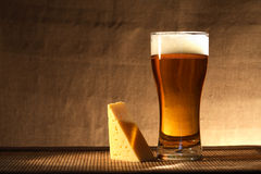 Beer And Cheese Stock Image