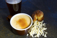 Beer Cheese Soup with Cayenne Royalty Free Stock Photo