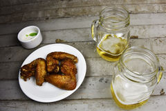 Beer  with Chicken Stock Photo