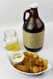 Beer  with Chicken Royalty Free Stock Photos