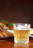 Beer and chinese food Royalty Free Stock Photography