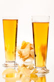 Beer and chip Stock Photo