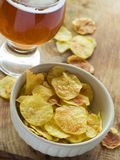 Beer and chips Stock Photo