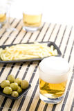 Beer with chips Royalty Free Stock Photography