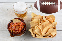 Beer, Chips and Salsa Royalty Free Stock Photo