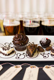 Beer and Chocolates Royalty Free Stock Photos