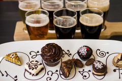 Beer and Chocolates Royalty Free Stock Image