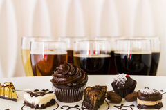 Beer and Chocolates Stock Photo