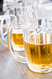 Beer Close Up. Close up shot of two big glasses of beer Royalty Free Stock Photo