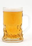 Beer close up. Beer on white, close up Royalty Free Stock Photo