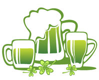 Beer and clover Stock Photos