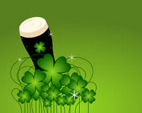 Beer & Clovers. A concept for St. Patrick's Day Royalty Free Stock Image