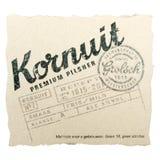 Beer coaster for advertising Grolsch Kornuit beer. Royalty Free Stock Images