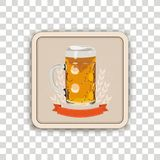 Beer Coaster Transparent Royalty Free Stock Images