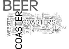 Beer Coasters Will Drive Visitors To Youword Cloud Stock Photos