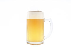 Beer into Cold Mug Royalty Free Stock Images