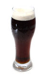 Beer, cold stout dark ale. Beer, dark ale or stout isolated, cold beer stock image