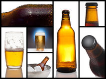 Beer collage Stock Images