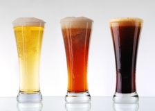 Beer collection stock photography