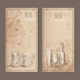 Beer collection cards for the restaurant Royalty Free Stock Images